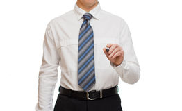 Hand of businessman with marker Stock Image