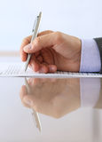Hand of businessman in suit Royalty Free Stock Photography