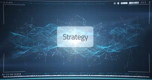 Hand of businessman using digital interface screen stock footage