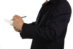 Hand of Businessman write on notebook Royalty Free Stock Photo