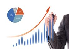 Hand drawing a graph Stock Photos