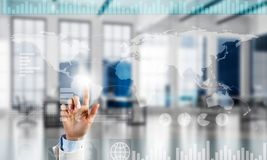 Concept of using modern technologies for business globalization and networking Stock Photo