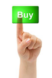 Hand and button Buy Stock Image