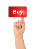 Hand and button Buy Royalty Free Stock Images