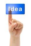 Hand and button Idea Stock Photos