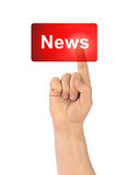 Hand and button News Stock Photos