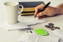 Calculate bills Royalty Free Stock Photos