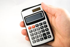 Hand with calculator Royalty Free Stock Images