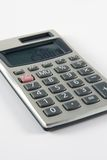 Hand Calculator. Small Battery and Solar Powered Calculator royalty free stock image