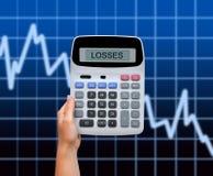 Hand with calculator Stock Photos