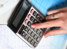Hand with calculator. Royalty Free Stock Photography