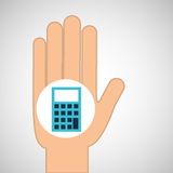 Hand calculator finance icon. Vector illustration eps 10 Royalty Free Stock Photos