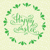 Hand calligraphic font with happy Easter text Stock Photography
