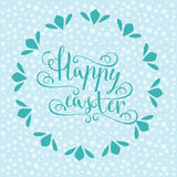 Hand calligraphic font with happy Easter text Royalty Free Stock Photo