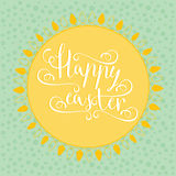 Hand calligraphic font with happy Easter text Royalty Free Stock Photography