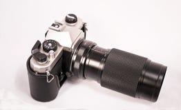 Hand camera met zoomlens Royalty-vrije Stock Afbeelding