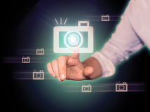 Hand Camera Royalty Free Stock Photos