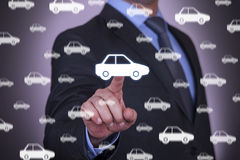 Hand with car Royalty Free Stock Image