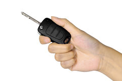 Hand With Car Key Stock Image