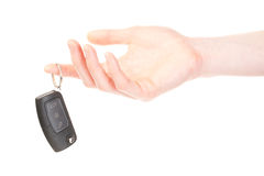 Hand with a car key Royalty Free Stock Photos