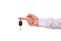 Hand with car key Royalty Free Stock Photos