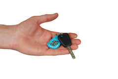 Hand Car Key Royalty Free Stock Photography