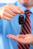 Hand with a car key. Stock Photography