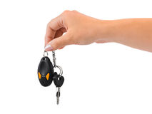 Hand and car key Royalty Free Stock Photography