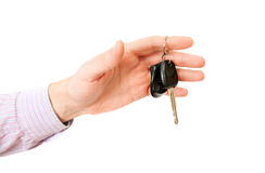 The hand with car key Royalty Free Stock Photography
