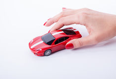 Hand with a car Stock Photo