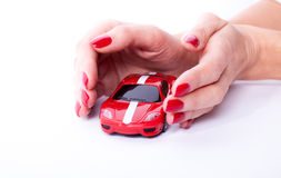 Hand with a car Stock Image