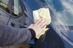 Hand car wash royalty free stock image