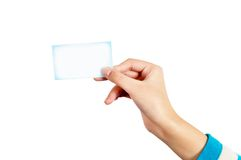 Hand and card Stock Photography