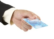 Hand and card Royalty Free Stock Image