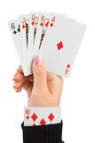 Hand and card in sleeve Royalty Free Stock Photos