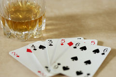 A hand of cards Royalty Free Stock Photos