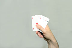 Hand with cards Royalty Free Stock Photos