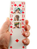 Hand with cards Royalty Free Stock Photo