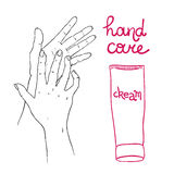 Hand care Royalty Free Stock Image