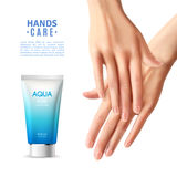 Hand Care Cream Realistic Poster Stock Image