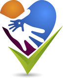 Hand care logo. Illustration art of a hand care logo with  background Stock Image