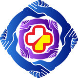 Hand care logo Royalty Free Stock Photo