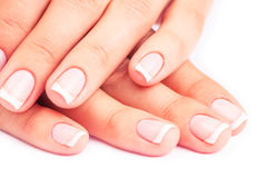 Hand. Care for sensuality woman nails Stock Photography