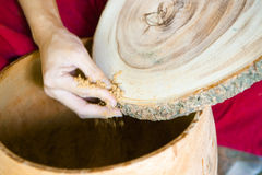 wood making Stock Image