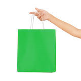 Hand carries a shopping bag Royalty Free Stock Photography