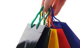 Hand carry  a shopping bag Stock Photography