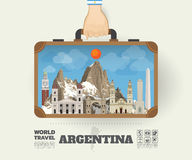 Hand carrying Argentina Landmark Global Travel And Journey Infog. Raphic Bag. Vector Design Template.vector/illustration Royalty Free Stock Images