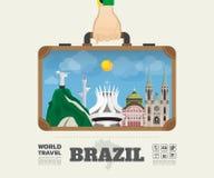 Hand carrying brazil Landmark Global Travel And Journey Infograp. Hic Bag. Vector Design Template.vector/illustration Royalty Free Stock Image