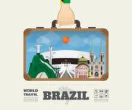 Hand carrying brazil Landmark Global Travel And Journey Infograp. Hic Bag. Vector Design Template.vector/illustration Stock Image