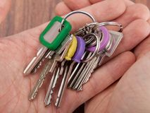 Hand carrying bunch of keys Stock Photography